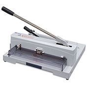 "United Tabletop Guillotine Paper Cutter - 14.5"" Cutting Length - 150 Sheet Capacity - Gray"
