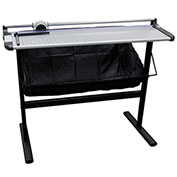"United Rotary Paper Trimmer with Metal Stand - 37"" Cutting Length - 10 Sheet Capacity - Gray"