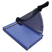 """United Professional-Grade Guillotine Paper Trimmer - 14"""" Cutting Length - 40 Sheet Capacity - Blue"""