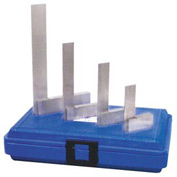 "Fowler 52-432-246 4 Piece Steel Square Set - 2"", 3"", 4"" & 6"" with Shop Hardened Case"