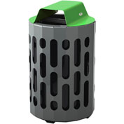 Frost Stingray Outdoor Waste Receptacle 2020, 42 Gallon Capacity - Green