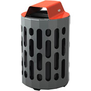 Frost Stingray Outdoor Waste Receptacle 2020, 42 Gallon Capacity - Red