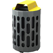 Frost Stingray Outdoor Waste Receptacle 2020, 42 Gallon Capacity - Yellow