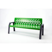 Frost Stream 6' Steel Bench, Green with Gray Frame