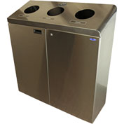 Frost Free Standing Three Stream Recycling Station, Stainless Steel, 316S