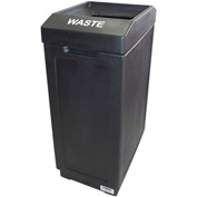 Forte 39 Gallon Sidekick™ Open Top Waste Center, Black - 8001460