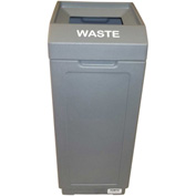 Forte 39 Gallon Sidekick™ Open Top Waste Center, Gray - 8001461
