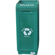 Forte 39 Gallon Open Top Plastic Recycle Bin - Plastic, Green - 8001839