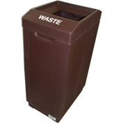 Forte 39 Gallon Sidekick™ Open Top Waste Center, Brown - 8001989