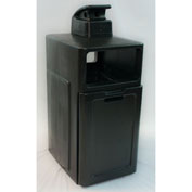 Forte 42 Gallon Enclosed Top Waste Container W/ Ashtray, Black - 8002839