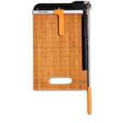 "Fiskars Bamboo-Base Byass Paper Trimmer 12"" Length Blade & 15 Sheet Capacity"