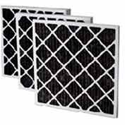 "Filtration Manufacturing 02OS-18244 Charcoal Pleated Filter , 18""W x 24""H x 4""D - Pkg Qty 6"