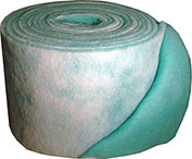 "Filtration Manufacturing 1114-24901 Polyester Media Roll, MERV 8, Green/White, 1080""L x 24""H x 1""D - Pkg Qty 2"