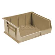 Global™ Plastic Stacking Bin 11x10-7/8x5 - Beige - Pkg Qty 6