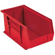 Global™ Plastic Stacking Bin 5-1/2x14-3/4x5 - Red - Pkg Qty 12