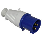 Walther Electric 211306, Male Plug, 16/20A, 3P, 230/250Vac, 6 Hr, IP44, With Cable Gland
