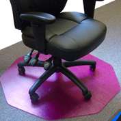 "Cleartex 9Mat Ultimat Chair Mat for Carpet - 38""W x 39""L - Straight Edge - Cerise Pink"