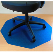"Cleartex 9Mat Ultimat Chair Mat for Hard Floor - 38""W x 39""L - Straight Edge - Cobalt Blue"