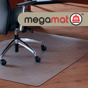 "Cleartex MegaMat Heavy Duty Chair Mat for Hard Floor - 35""W x 47""L"