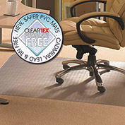 "Floortex Rectangular Chair Mat for Carpet - 45""W x 53""L - Straight Edge"