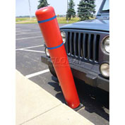 "32""H FlexBollard™ - Asphalt Installation - Red Cover/Blue Tapes"