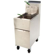 Dean® Super Runner Floor Fryer 43lb. Oil Cap. - Natural Gas w/Casters