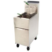 Dean® Super Runner Floor Fryer 50lb. Oil Cap. - Natural Gas w/Casters
