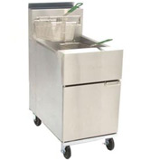 Dean® Super Runner Floor Fryer 75lb. Oil Cap. - Natural Gas w/Casters