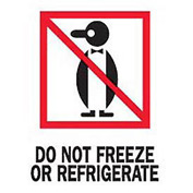 "Do Not Freeze Or Refrigerated 3"" x 4"