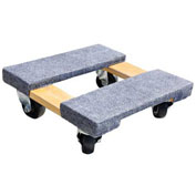 """Milwaukee Wood Furniture Dolly 33815 - Carpeted Ends - 15"""" x 15"""" - 800 Lb. Capacity"""