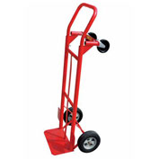 Milwaukee 2-in-1 Convertible Hand Truck 35080 - Solid Rubber Wheels - 600 Lb. Capacity