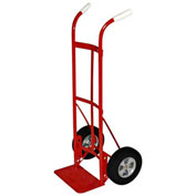 Milwaukee Hand Truck 47132 - Dual Handle - Solid Rubber Wheels - 800 Lb. Capacity - Red