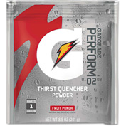 Gatorade® 2.12 Ounce Instant Powder Pouch Fruit Punch Electrolyte Drink - Yields 1 Quart