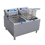 Globe PF32E, 32 lb. Electric Countertop Fryer - 208-240v/60/1-ph