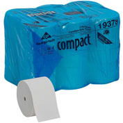 GP Compact White Coreless High Capacity 2-Ply Toilet Paper, 1500 Sheet/Roll, 18 Rolls/Case - 19378