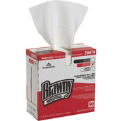 GP Brawny Industrial White All Purpose DRC Wipers, 90 Sheets/Box, 10 Boxes/Case - 20070/03