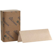 GP Envision Brown Singlefold Paper Towels, 250 Towels/Pack, 16 Packs/Case - 23504