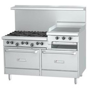 "6 Burner With 24"" Raised Griddle - Natural Gas"