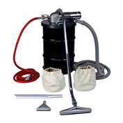 "30 Gallon D Pneumatic Vacuum Unit w/ 1.5"" Inlet & Powder Coating Attachment Kit"