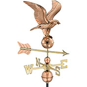 Good Directions American Eagle Weathervane, Polished Copper