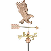 Good Directions American Bald Eagle Weathervane - Polished Copper