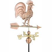 Good Directions Proud Rooster Weathervane - Polished Copper
