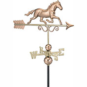 Good Directions Galloping Horse Weathervane - Polished Copper