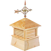 """Good Directions 26"""" Square Kent Wood Cupola w/ Cottage Victorian Arrow Weathervane"""