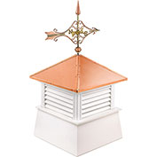 "Good Directions 26"" Square Manchester Vinyl Cupola w/ Cottage Victorian Arrow Weathervane"
