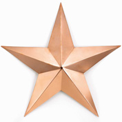 Good Directions Medium Copper Star, Polished Copper Decor