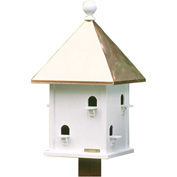 Good Directions Square Bird House w/ Polished Copper Roof