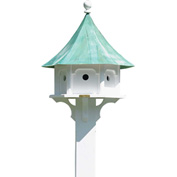 Good Directions Carousel Bird House w/ Blue Verde Copper Roof