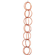 Good Directions Double Link Rain Chain, Polished Copper