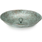 Good Directions Rain Chain Basin, Blue Verde Copper